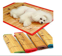 Wholesale pet mat nest summer heat dissipation than the cane makes up bamboo dog cool mat cool ice pad