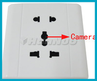 Wholesale White Voice activated Security Electrical Outlet Hidden Camera Support TF Card SPC_007