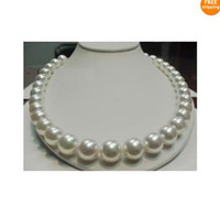 Wholesale HUGE AAA MM PERFECT ROUND SOUTH SEA GENUINE WHITE PEARL NECKLACE quot K