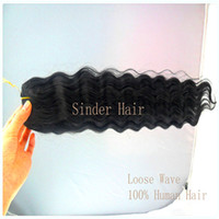 Wholesale Real Mongolian Human Loose Wave On Sale quot quot Inch Cheap Beauty Supplier Best Loose Wave Queen Loose Wave Hair Products Off Black