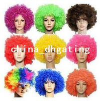 african soccer - 20pcs Manufacturers selling London Olympic wig football soccer basketball fans wigs g fake hair A199