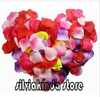 Wholesale 10000pcs bags quality artificial ivory silk rose flowers decoration confetti table petals wedding bridal