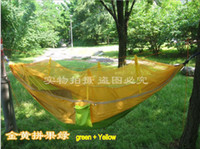 Nylon Outdoor Furniture  Cheap new camping hammock swing outdoor hammock mosquito net indoor recreational crane qwased 5pcs