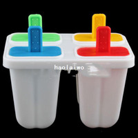 CIQ Plastic Baking & Pastry Tools DIY Ice Cream Frozen 4Pcs Popsicle Maker Mold Icepop Block Icy Pole Lolly Set