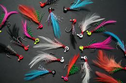 60pcs FISHING LURES LEAD HEAD JIGS HOOKS 1 32oz