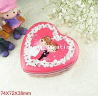 April Fool's Day Guangxi China (Mainland) Chocolate Free shipping fashion style wedding box heart tin box mint tin box XXH07