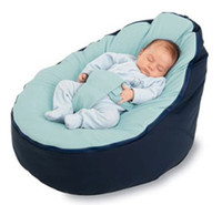 Wholesale Doomoo Style Baby Seat Bean bag Blue original doomoo seat Beanbags sofa chair newborn kid snuggle beds