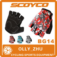 Wholesale 2013 Scoyco BG14 Bicycle Half Finger GEL Gloves Summer Mens Women Cycling Bike Riding Gear Brand Sport Accessories