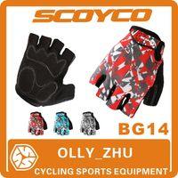 mens sports gloves - 2015 Scoyco BG14 Bicycle Half Finger GEL Gloves Summer Mens Women Cycling Bike Riding Gear Brand Sport Accessories Sprot gloves