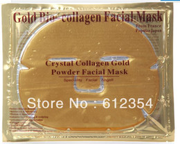 Wholesale 250pcs by DHL Lady beauty Face Mask Collagen Gel Contains Hylauronic Acid K Gold amp Hydrolyzed Silk
