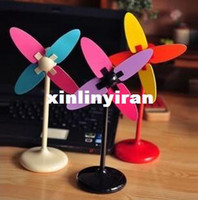 Wholesale High speed motor multi colored magicaf diy windmill small electric fan mini usb battery dual silent small fan