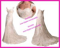 Real Photos autumn destinations - New Style Cap Sleeve A Line Lace Destination Bridal Dresses Wedding Dress W1577