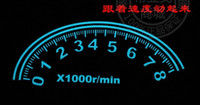 Wholesale 80cmx30cm dash board Car Music rhythm lamp led sound activated equalizer Multi color flashing light Car Dancing Sticker Music Rhythm