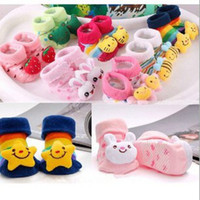 0-6Mos baby doll slippers - Cute Carton Plush Doll Solid Baby Girl Boy Gift D SOCKS Boots slippers anti slip NEWBORN months pairs