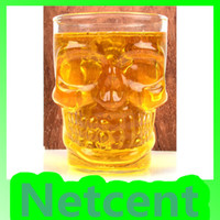 Wholesale New Crystal Skull Glassware Beer Glass Cup Creepy Cool for Halloween Fashion Gift ml Manual