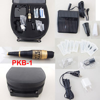 tattoo machine case - Permanent Makeup Kits Cosmetic Tattooing Supply Including Eyebrow Machine Footswitch Needles Tips Case PKB