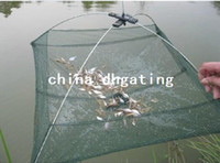 Wholesale Durable Nylon Eels Shrimp Crab Trap Cast Steel Wire Frame Umbrella Fishing Net