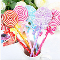 Wholesale Cute Lollipop Pen Ball point pen Office supplies Stationery changeable blue cartridge Ballpoint pen