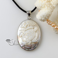 cameo necklace - oval cameo sea turtle girl white Penguin seashell mother of pearl oyster sea shell pendants for necklaces Hand made jewelry Mop1938cy0