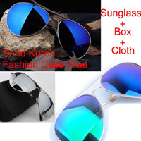 Wholesale 2013 Super Cool Men Women Colorful Sunglasses Driving Aviator Sun Glasses Box Cloth