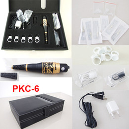 Permanent Makeup Kits Cosmetic Tattooing Supply Including Eyebrow Machine Needles Tips Rectangle Case PKC