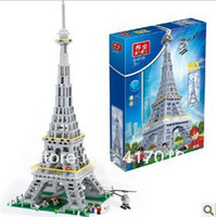 Wholesale Banbao building blocks educational toys D DIY Paris Eiffel Tower building blocks models