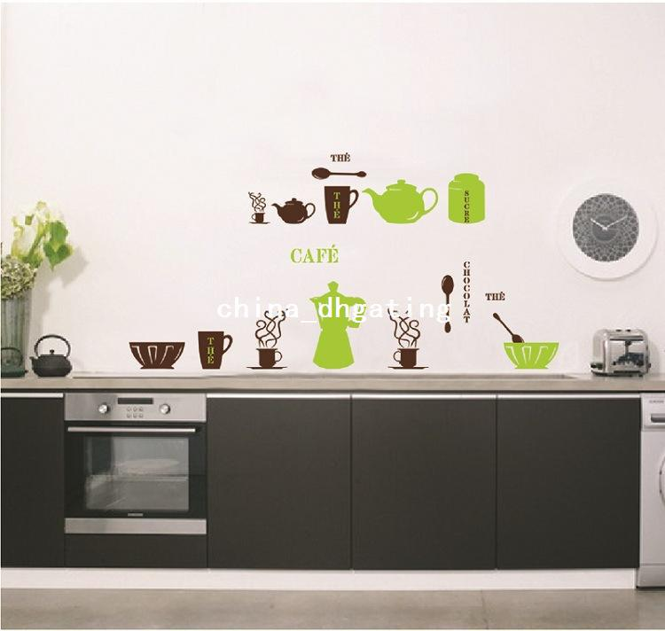 Wholesale Wall Sticker - Buy Coffee House Wall Decals Decorative