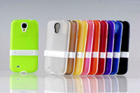 Plastic For Samsung  TPU Gel Case Back support Cover Skin for Samsung S4 i9500 Dustproof Case