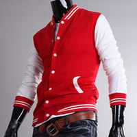 Wholesale 2808 New HOT Men s Leisure mouth collar with a solid color baseball jersey Hoodies amp Sweatshirts Jacket Coat