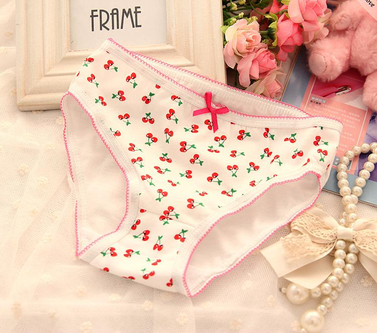 Free Shipping, Children Cartoon Underwear with Cute Bow, Animal and Fruite Print Panties Knickers for baby girl ,12pcs/lot