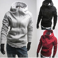 Wholesale 2810 New HOT Men s England even casual hooded cardigan zipper gloves Hoodies amp Sweatshirts Jacket Coat