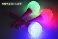 Wholesale 10pcs Crystal Ball LED Light Sticks Concert Fans LED Toys Children s Gifts Glow in Night Party