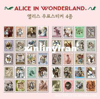 Graphic vinyl alice series - New vintage Alice series stamp paper sticker sheets per set note sticker Decoration label