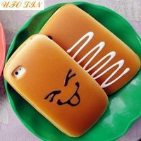 For Apple iPhone apple bread - Cute simulation bread mobile phone case mobile phone pouch mobile phone shell super Gift