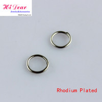 Wholesale Rhodium Plated Open Jump Rings Jewelry DIY Metal Split Rings Jewellery Making Findings Connectors mm Handcrafts Accessories