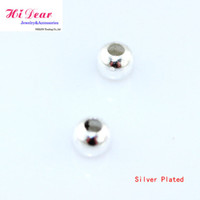 Wholesale Jewelry Making DIY Findings Accessory Metal Gold Silver Plated Loose Sparkle Spacer Beads mm Z1