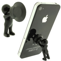 Wholesale Funny D man mobile phone holder cellphone stand cable winder