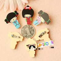 Wholesale New cute Japanese girl pin Brooch clip set Fashion Style Gift