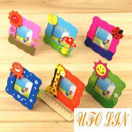 Wholesale cute wooden cartoon children s photo frame cartoon frame baby frame