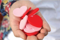 Wholesale Creative sweet heart shape pvc bookmarks Paper Clip