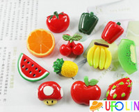 Animal fruits and vegetables - New sweet D fruit and vegetable resin Fridge Magnets Refrigerator sticker designs