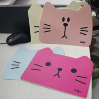 Wholesale New cute cat shape mouse pad mouse mat Fashion new gift