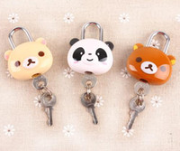 Wholesale New Rilakkuma series lock and key bag safe lock bag pandent lock set