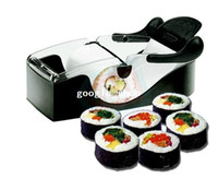 Set CIQ ECO Friendly Easy Sushi Maker Roller equipment, perfect roll, Roll-Sushi with color box kitchen accessories japanfree shipping