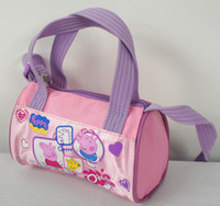 Wholesale hot children handbags New Arrival Peppa pig girl Fashion message Bag Storage bag Purple cm