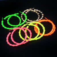 Wholesale Womens Big Hoop Earrings Jewelry Fluorescence Bamboo Shape Basketball Wives Earring CM