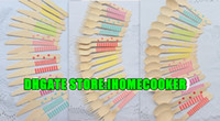 Wholesale 600pcs Pick Color Pastel Wooden Cutlery Set disposable wooden spoon fork knife in Rainbow Chevron Stripe Polka Dots