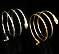 Wholesale Womens Mens Snake Bangle Bracelets Plated Gold Silver Wrap Bangles Bracelet Jewelry Hot Sale