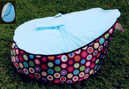 Wholesale baby beanbag baby seat baby chair colorfull sicrel bluebaby bean bag