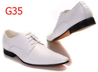 Wholesale Italian Brand Men s White Dress Shoes Leather Casual Athletic Walking Office Wedding Shoes Groomsman Shoes Bridegroom Shoes D51757